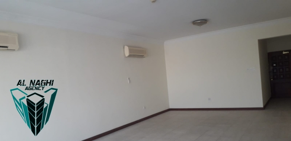 Huge space Semi furnished three bedrooms flat in Adliya with pool