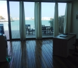 Beach front 3 bedrooms semi furnished villa with open Sea Views