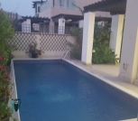 Sea view 4 bedrooms villa semi furnished with private beach access
